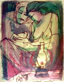 زوجين ومصباح وحمامة . ١٩٨١