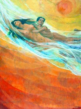 سباحة في فضاء البرتقال . ١٩٧٥