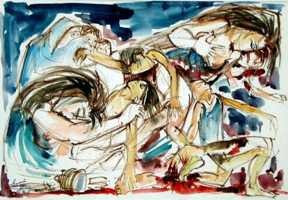من مذبحة صبرا وشاتيلا . ١٩٨٣