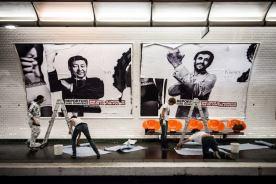 في محطة ميترو أوبرا في باريس